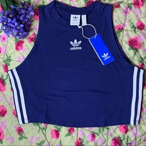 adidas originals navy crop top